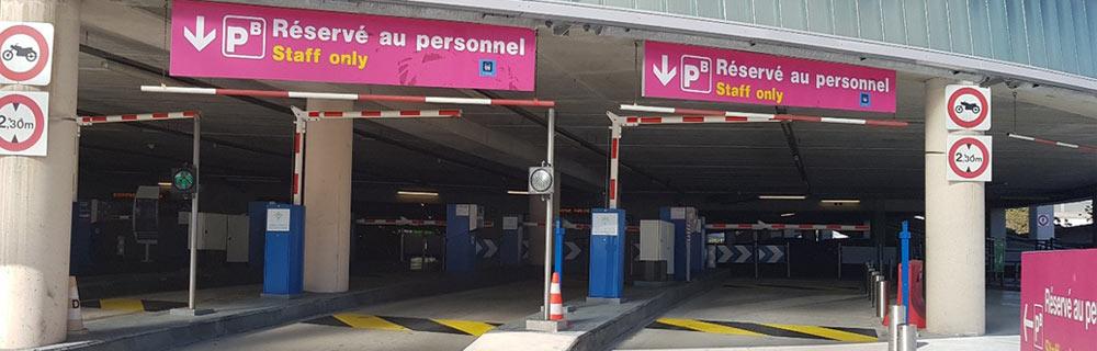 Parkings réservé au personnel Aéroport de Nice